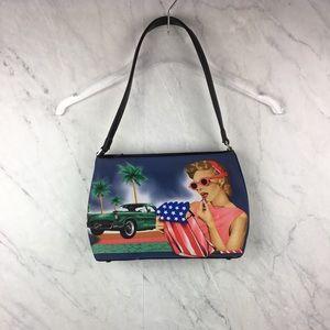 Handbags - Vintage Inspired Lipstick & Car Shoulder Bag